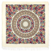 Молитва 353-0, павлопосадский платок шерстяной  с шерстяной бахромой   Первый сорт, фото 1