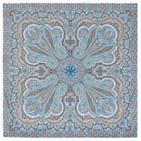Восточное путешествие 1566-14, павлопосадский платок (шаль) хлопковый (саржа) с подрубкой   Стандартный сорт