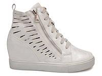 Модные ботинки сникерсы ботинки на танкетке, фото 1