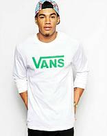 Брендовая футболка VANS, ванс, белая, летняя, мужская, стильная, хб, КП1996