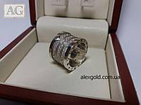 Серебряное кольцо Булгари с камнями