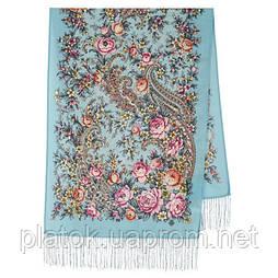 Квітковий роман 1747-61, павлопосадский вовняний шарф з шовковою бахромою
