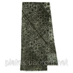10431-18, павлопосадский шарф (кашне) шерстяной (разреженная шерсть) с осыпкой