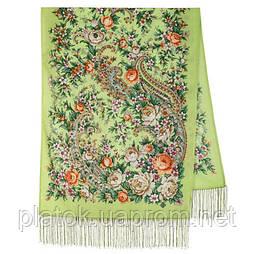 Квітковий роман 1747-59, павлопосадский вовняний шарф з шовковою бахромою
