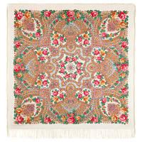 Волшебная сила любви 1723-0, павлопосадский платок шерстяной  с шелковой бахромой, фото 1