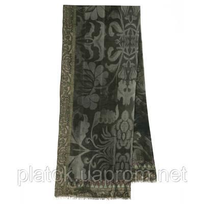 10446-18, павлопосадский шарф (кашне) шерстяной (разреженная шерсть) с осыпкой