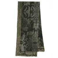10446-18, павлопосадский шарф (кашне) шерстяной (разреженная шерсть) с осыпкой, фото 1