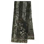 10446-18, павлопосадский шарф (кашне) шерстяной (разреженная шерсть) с осыпкой, фото 3