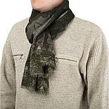 10446-18, павлопосадский шарф (кашне) шерстяной (разреженная шерсть) с осыпкой, фото 4