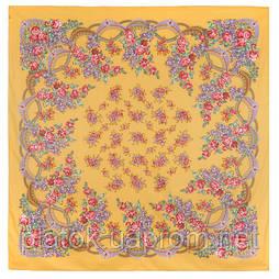 Вера 516-2, павлопосадский платок (шаль) хлопковый (саржа) с подрубкой