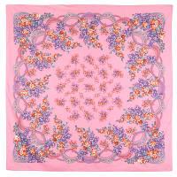 Вера 516-3, павлопосадский платок (шаль) хлопковый (саржа) с подрубкой, фото 1