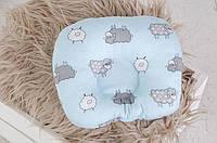 Подушка для новорожденного Барашки