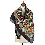 Голубка 679-18, павлопосадский платок (шаль) хлопковый (саржа) с подрубкой, фото 3
