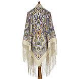 Единственная 1757-2, павлопосадский платок (шаль) из уплотненной шерсти с шелковой вязаной бахромой, фото 3
