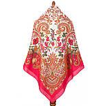 Лидия 1758-5, павлопосадский платок (шаль) хлопковый (саржа) с подрубкой, фото 3