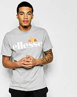 Брендовая футболка ELLESSE, брендовая футболка елсе, серая,трикотаж , КП2095
