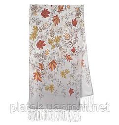 Чарівна алея 1051-53, павлопосадский шовковий шарф крепдешиновый з шовковою бахромою