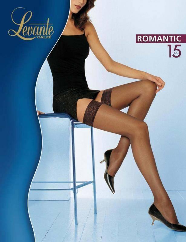 Чулки Levante Romantic 15 2 (S), NERO (черный), 15