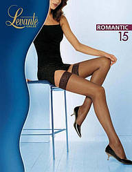 Чулки LEVANTE ROMANTIC 15 4 (L) 15 NERO (черный)