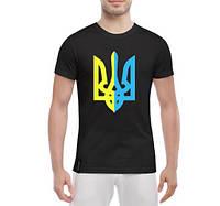 Яркая мужская футболка Герб Украины в центре, фото 1