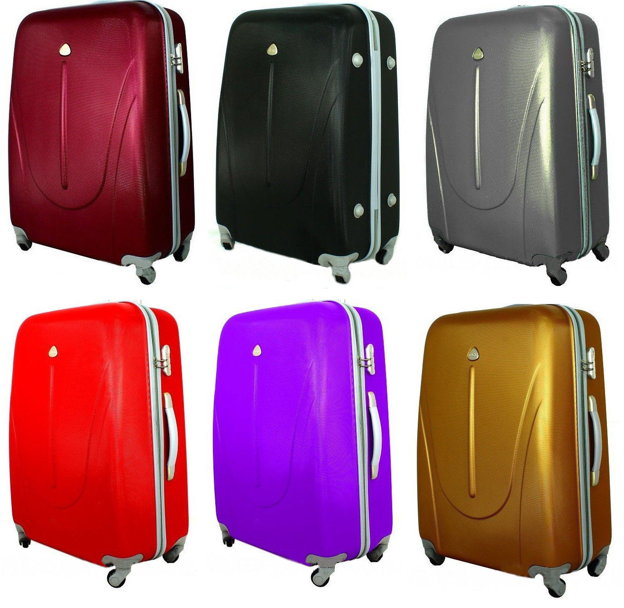 Набор дорожных чемоданов 3в1 из поликарбоната (Карбон)  продажа ... 5b4adba58d1