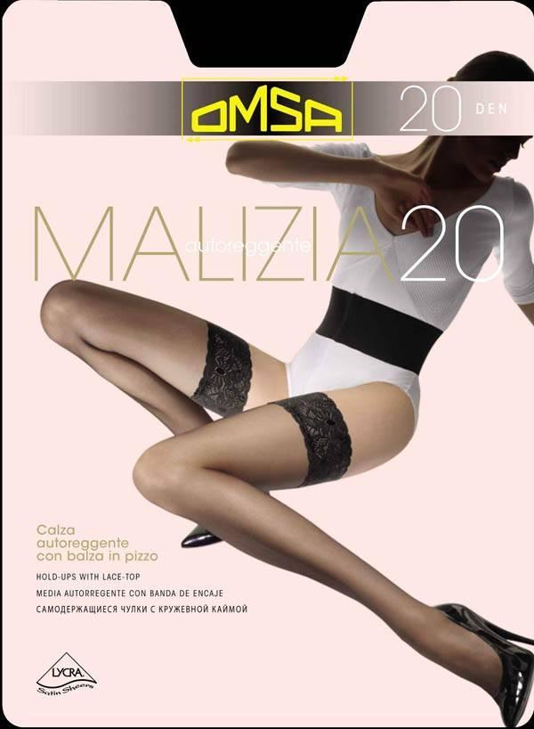 Чулки OMSA malizia 20  2 (S), BIANCO (белый), 20