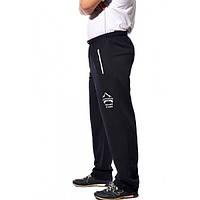 Мужские спортивные штаны  трикотажные, черые