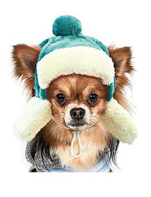 Шапка зимняя Ушанка XS для собаки (19-22 см, 1-2 кг), цвета разные