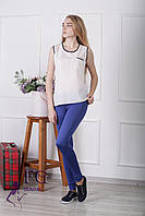 Майка-блузка «Оливия» - распродажа белый (молоко), 46
