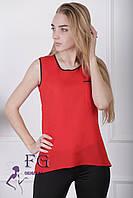 Майка-блузка «Оливия» - распродажа красный, 44