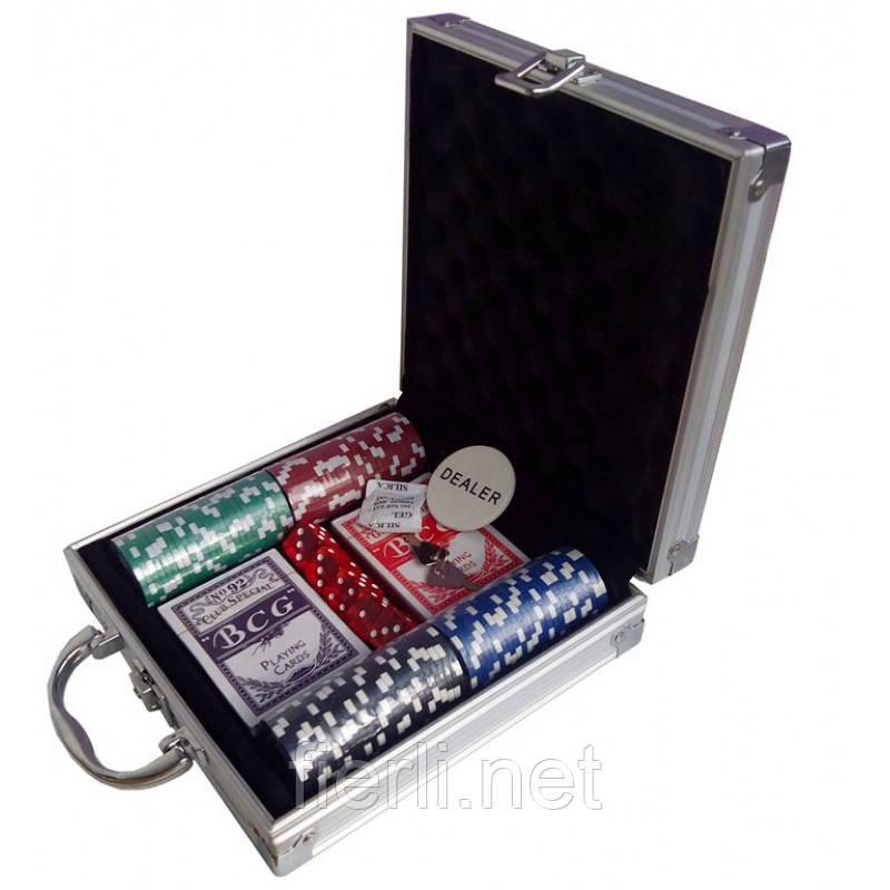 Покерный набор на 100 фишек в кейсе Poker  №100