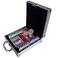 Покерный набор на 100 фишек в металлическом кейсе Poker  №100N