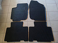 Коврики салона Toyota Rav-4 (к-т 4шт, резина, черные) Stingray