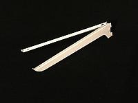 Полкодержатель белый в рейку 34.5 см
