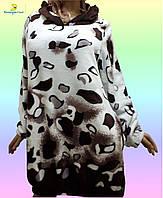 Женская домашняя одежда, туника домашняя из плюшевой махры, размер 46-48