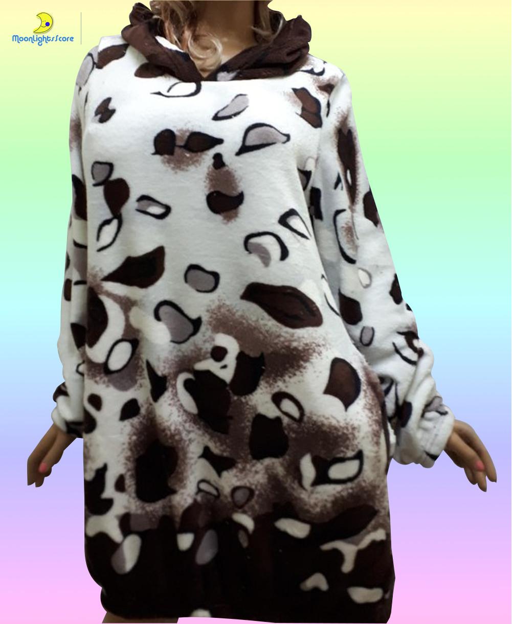 Женская домашняя одежда, туника домашняя из плюшевой махры, размер 42-44