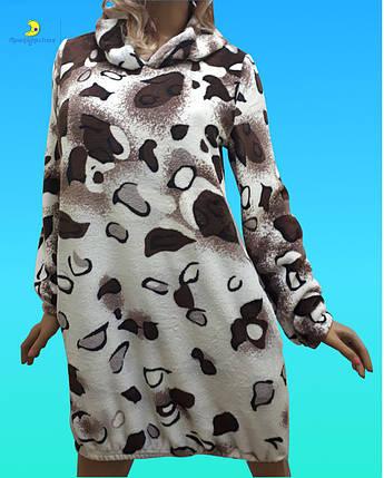 Женская домашняя одежда, туника домашняя из плюшевой махры, размер 42-44, фото 2