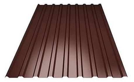 Профнастил покрівельний ПК-20 шоколадний товщина 0,35 розмір 1,5Х1,16м, фото 2