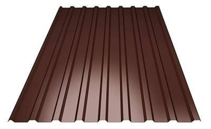 Профнастил кровельный  ПК-20 шоколадный толщина 0,40 размер 2Х1,16м, фото 2