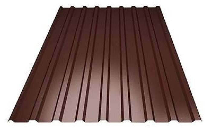 Профнастил покрівельний ПК-20 шоколадний товщина 0,45 розмір 2Х1,16м, фото 2