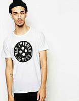 Брендовая футболка, белая, трикотаж, в наличии, качественная, спортивная, летняя, КП2563