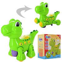 Динозавр 21см, проектор ночного неба, ездит, муз, свет, батар., в кор.19*13*22,5см