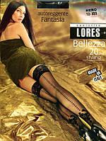Чулки Lores Bellezza 20 den c имитацией шва Темно-серый 1/2