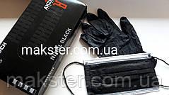 Маски медицинские черные Akzenta (50 шт), фото 3
