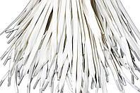 Шнурки для обуви с пропиткой (100см) плоские, белые, фото 1