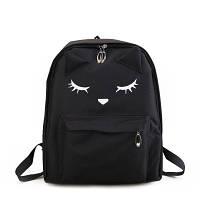 Черный рюкзак с ушками и лапками