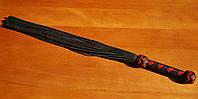 Класичний флоггер (многохвостовая гладка батіг, 50 хвостів) ручна робота, фото 1
