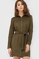 Жіноче оливкове замшеве плаття Terry