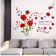 Интерьерная наклейка на стену Романтическая роза (SK9195)