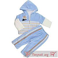 Тёплый костюм с капюшоном для малыша Размеры: 62-68-47 см (5586-1)